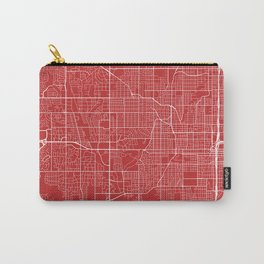 Omaha Map, USA - Red Carry-All Pouch