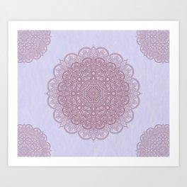 Pink Mandala Art Print