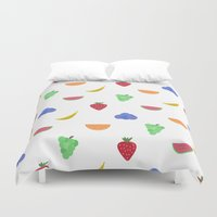 fruit Duvet Covers featuring Fruit by brittcorry