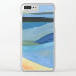 Lake Blue Clear iPhone Case