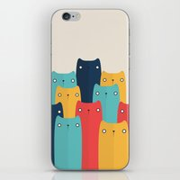 cats iPhone & iPod Skins featuring Cats by Volkan Dalyan