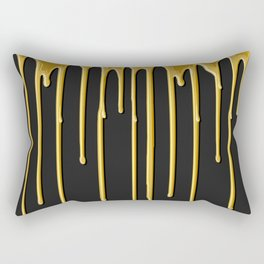 Liquid Gold Drip Rectangular Pillow