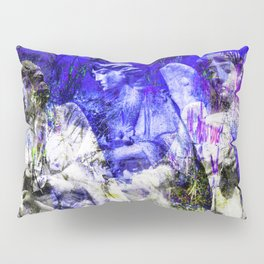 Blue Symphony of Angels Pillow Sham