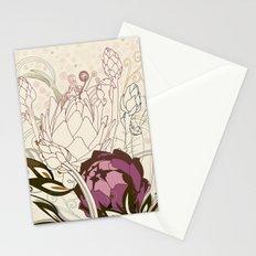 Peach and purple  artichoke Stationery Cards