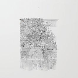 Copenhagen White Map Wall Hanging