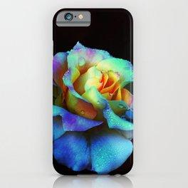Pastel Rainbow Rose iPhone Case