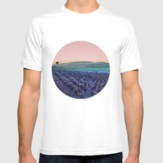 Land of the Free MEDIUM Mens Fitted Tee White