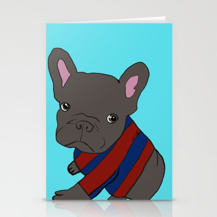 French Bull Dog Puppy in a Sweater Stationery Cards