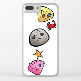 Rock and Seashells Clear iPhone Case