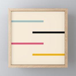Abstract Minimal Retro Stripes Acro Framed Mini Art Print