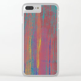 Rustic texture Clear iPhone Case
