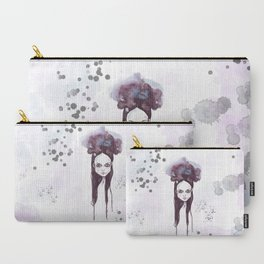 Watercolors Wednesday - Dark thoughts & messy hair Carry-All Pouch