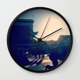 Ocean City Boardwalk Wall Clock