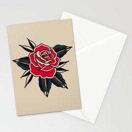 Rose Traditional Stationery Cards