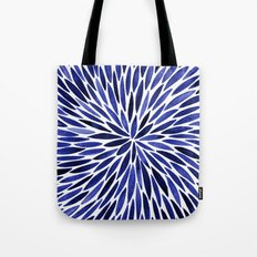 Navy Burst Tote Bag