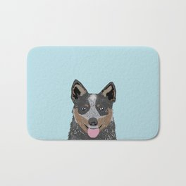 Kellan - Cattle Dog gifts for dog lovers and australian cattle dog gifts for dog person Bath Mat