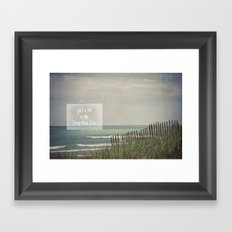 You & Me & The Deep Blue Sea Framed Art Print