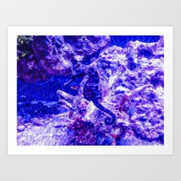 Find the Seahorse Art Print