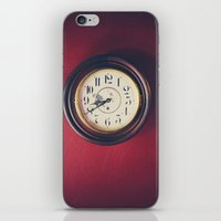 wall clock iPhone & iPod Skins featuring Old wall clock by Elisabeth Coelfen
