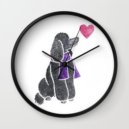 Watercolour Standard Poodle Wall Clock