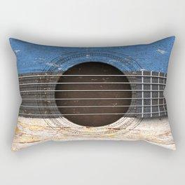 Old Vintage Acoustic Guitar with Estonian Flag Rectangular Pillow