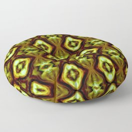 Bright Green Brown Diamond Pattern Floor Pillow