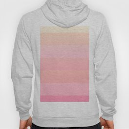 Summer Pink and Coral Gradient Color Block Hoody