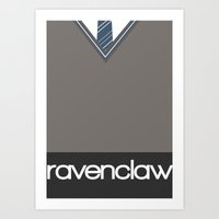 ravenclaw Art Prints featuring Ravenclaw by voldemort