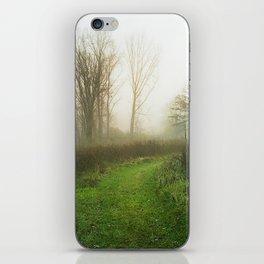 Beautiful Morning - Autumn Field in Fog iPhone Skin