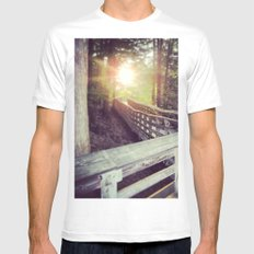 Sun in the Park MEDIUM White Mens Fitted Tee