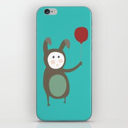 Bunny boy with a balloon iPhone Skin