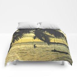 Sunset on the Island Comforters