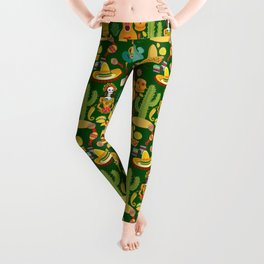Fiesta Time! Mexican Icons Leggings