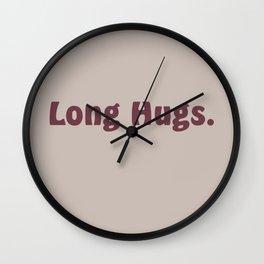 Long Hugs in Mauve, Bordeaux/Magenta/Purple Wall Clock