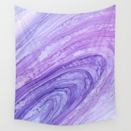 Purple Agate Geode Crystal Slice Wall Tapestry