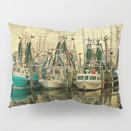 Shrimp Boat Lineup Pillow Sham