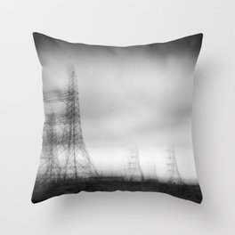 Dungeness Electricity Throw Pillow