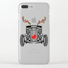 reindeer hotrod Clear iPhone Case