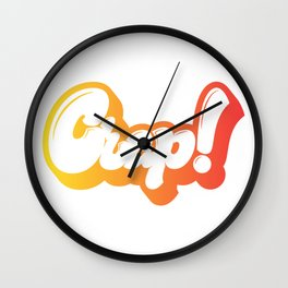 Crap! lettering Wall Clock
