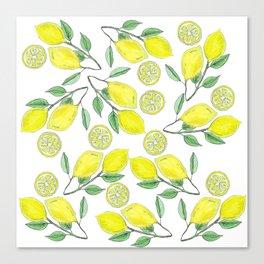 Life handed me lemons Canvas Print