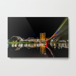 Adelaide Riverbank At Night (full image) Metal Print