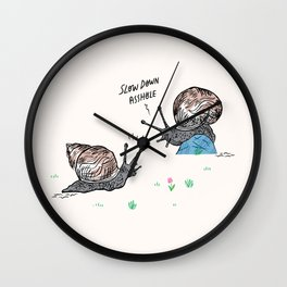 Snail Rage Wall Clock