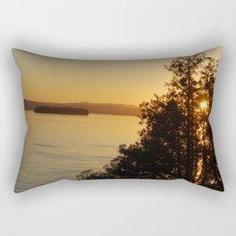Red Rock Sunset Rectangular Pillow
