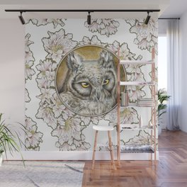 Eagle owl2 Wall Mural