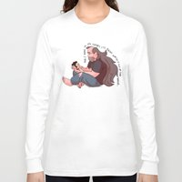 greg guillemin Long Sleeve T-shirts featuring Steven Universe: Greg and Steven by Liv Moy
