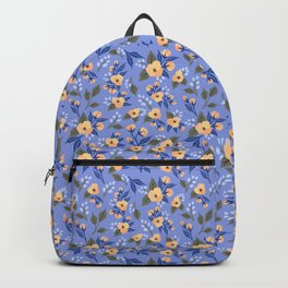 Peach Flowers on Lilac - Floral Pattern Backpack