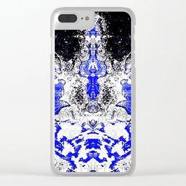 Blue Diamond Clear iPhone Case