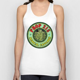 100% Smokin' Cannabis - 2- Support Prop #215 - 100% Smokin' Cannabis Unisex Tank Top