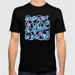 Ipomea Flower_ Morning Glory Floral Pattern T-shirt