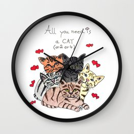 All you need is cats! Wall Clock